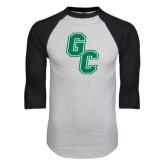 White/Black Raglan Baseball T-Shirt-GC