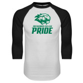 White/Black Raglan Baseball T Shirt-GC Pride Lions