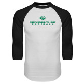 White/Black Raglan Baseball T Shirt-Baseball Seams