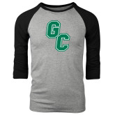 Grey/Black Tri Blend Baseball Raglan-GC