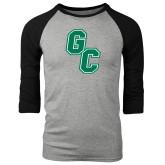 Grey/Black Tri Blend Baseball Raglan-GC