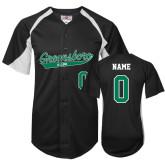 Replica Black Adult Baseball Jersey-Personalized