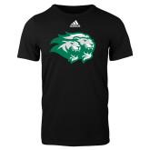 Adidas Black Logo T Shirt-Lions