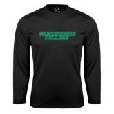 Syntrel Performance Black Longsleeve Shirt-Wordmark