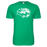 Next Level SoftStyle Kelly Green T Shirt-Lions