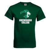 Dark Green T Shirt-Stacked Greensboro College