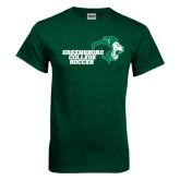 Dark Green T Shirt-Soccer