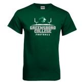 Dark Green T Shirt-Football Field Design