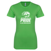 Next Level Ladies SoftStyle Junior Fitted Kelly Green Tee-Lacrosse
