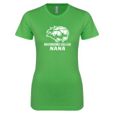 Next Level Ladies SoftStyle Junior Fitted Kelly Green Tee-Nana