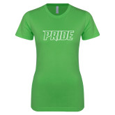 Next Level Ladies SoftStyle Junior Fitted Kelly Green Tee-Pride