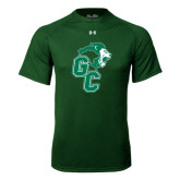 Under Armour Dark Green Tech Tee-Official Logo