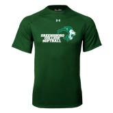 Under Armour Dark Green Tech Tee-Softball