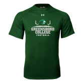 Under Armour Dark Green Tech Tee-Football Field Design