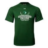 Under Armour Dark Green Tech Tee-Football Field Design