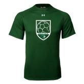 Under Armour Dark Green Tech Tee-Soccer Shield Design