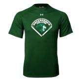 Under Armour Dark Green Tech Tee-Baseball Design