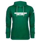 Adidas Climawarm Dark Green Team Issue Hoodie-Wordmark