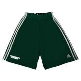 Adidas Climalite Dark Green Practice Short-Solid Wordmark