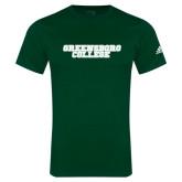 Adidas Dark Green Logo T Shirt-Wordmark