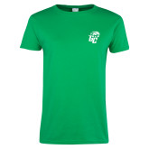 Ladies Kelly Green T Shirt-GC w Lions