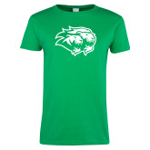 Ladies Kelly Green T Shirt-Lions