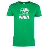 Ladies Kelly Green T Shirt-GC Pride Lions