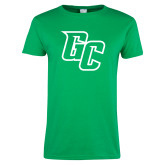 Ladies Kelly Green T Shirt-GC