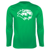 Performance Kelly Green Longsleeve Shirt-Lions