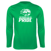Performance Kelly Green Longsleeve Shirt-GC Pride Lions