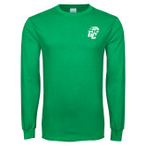 Kelly Green Long Sleeve T Shirt-GC w Lions