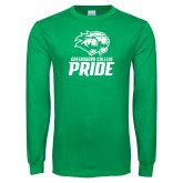 Kelly Green Long Sleeve T Shirt-GC Pride Lions