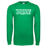 Kelly Green Long Sleeve T Shirt-Pride