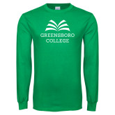 Kelly Green Long Sleeve T Shirt-Institutional Mark