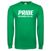 Kelly Green Long Sleeve T Shirt-Pride Stacked