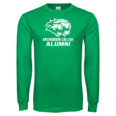Kelly Green Long Sleeve T Shirt-Alumni