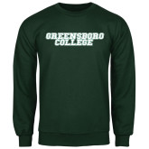 Dark Green Fleece Crew-Wordmark