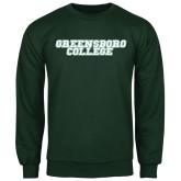 Dark Green Fleece Crew-Wordmark