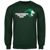 Dark Green Fleece Crew-Dad