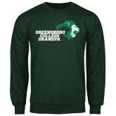 Dark Green Fleece Crew-Grandpa