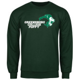 Dark Green Fleece Crew-Poppy
