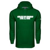Under Armour Dark Green Performance Sweats Team Hoodie-Wordmark