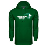 Under Armour Dark Green Performance Sweats Team Hoodie-Soccer