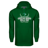 Under Armour Dark Green Performance Sweats Team Hoodie-Football Field Design