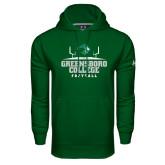Under Armour Dark Green Performance Sweats Team Hoodie-Football Field Design