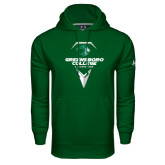 Under Armour Dark Green Performance Sweats Team Hoodie-Lacrosse Design