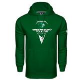 Under Armour Dark Green Performance Sweats Team Hoodie-Lacrosse Design