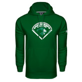 Under Armour Dark Green Performance Sweats Team Hoodie-Baseball Design