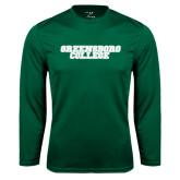 Syntrel Performance Dark Green Longsleeve Shirt-Wordmark