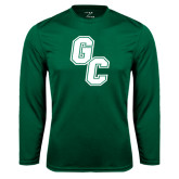 Performance Dark Green Longsleeve Shirt-GC